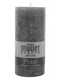 Müller-Kerzen Polar Stumpenkerze asphalt  (1 St.) - 4009078119023