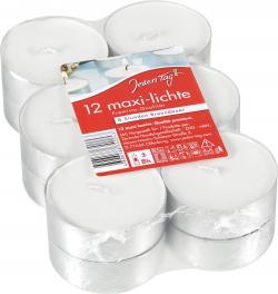 Jeden Tag Maxi-Lichte weiß  (12 St.) - 4009078499194