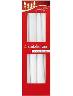 Jeden Tag Spitzkerzen weiß  (4 St.) - 4306188342519