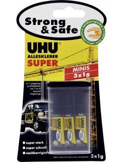 Uhu Alleskleber Super Strong & Safe Minis  (3 x 1 g) - 4026700443059