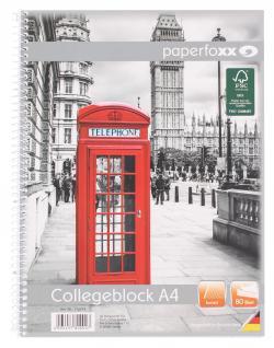 Paperfoxx Collegeblock DIN A4 80 Blatt kariert  (80 St.) - 4005437800007