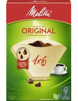 Melitta Filtertüten Original 1x6  (40 St.) - 4006508123834