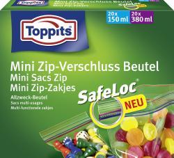 Toppits Mini Zip-Verschluss Beutel  (40 St.) - 4006508186433