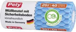 Pely Clean Comfort Mülleimer-Beutel 20 Liter  (40 St.) - 4007519085043
