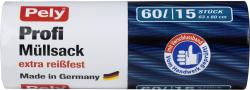 Pely Clean Profi-Müllsäcke mit Verschlussband 60 Liter  (15 St.) - 4007519085500