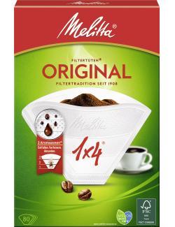 Melitta Filtertüten Weiß 1x4  - 4006508206827