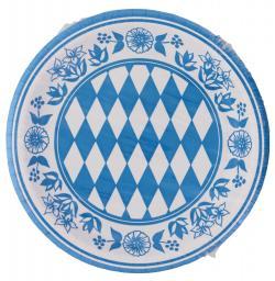 Duni Pappteller 22cm Bayernraute  (1 St.) - 7321011644155