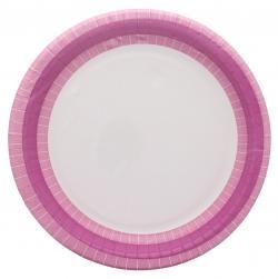 Duni Pappteller 22cm hot pink line  (1 St.) - 7321011679607