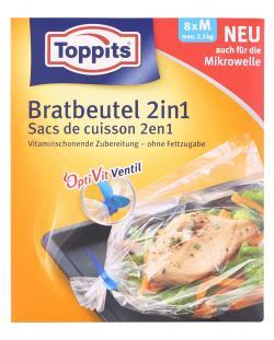 Toppits Bratbeutel 2in1 Größe M  (8 St.) - 4006508101061
