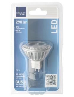 Müller Licht Leuchtmittel LED 5W GU5,3 warmweiß  (1 St.) - 4018412026149