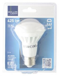 Müller Licht Leuchtmittel LED 7,5W E27 warmweiß  (1 St.) - 4018412013217