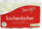Jeden Tag Küchentücher Classic 3-lagig  <nobr>(4 x 51 Blatt)</nobr> - 4306188351306