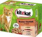 Kitekat Bunte Viefalt in Sauce  <nobr>(12 x 100 g)</nobr> - 4008429014130