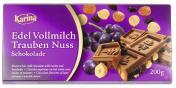 Karina Edel Vollmilch Schokolade Trauben Nuss  <nobr>(200 g)</nobr> - 4001743019249