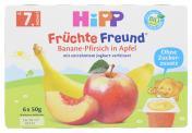Hipp Früchte-Freund Banane-Pfirsich in Apfel  <nobr>(6 x 50 g)</nobr> - 4062300088696
