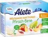 Alete Milchpause zum Trinken Pfirsich-Birne  <nobr>(2 x 200 ml)</nobr> - 4251099604648
