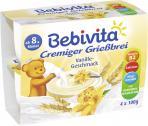 Bebivita Cremiger Grießbrei Vanille-Geschmack  <nobr>(4 x 100 g)</nobr> - 4018852014577